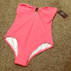 Vince Camuto Spring Swimwear Coral Sugar Size 12